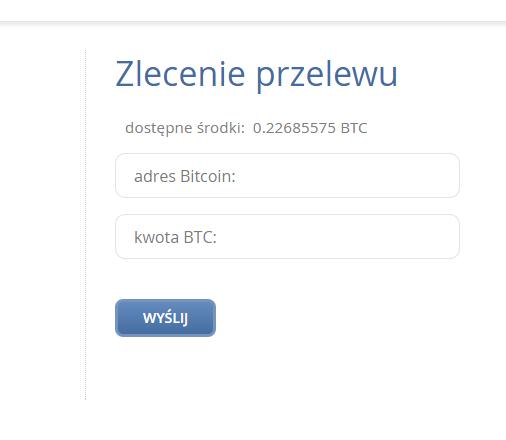 Ciesz się bitcoinami w swoim portfelu lub zleć wypłatę
